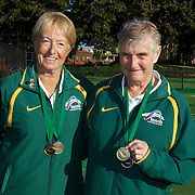 Nola Collins, Australia, (left) and Mary Gordon, Australia, 70 Womens Doubles Winners during the 2009 ITF Super-Seniors World Team and Individual Championships at Perth, Western Australia, between 2-15th November, 2009.