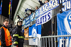 Firefighter after the football match between NK Maribor, SLO  and FC Schalke 04, GER in Group G of Group Stage of UEFA Champions League 2014/15, on December 9, 2014 in Stadium Ljudski vrt, Maribor, Slovenia. Photo by Grega Valancic / Sportida