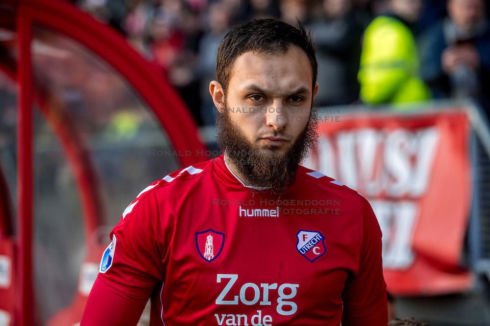 05-02-2017 NED: FC Utrecht - Heerenveen, Utrecht<br /> 21e speelronde van seizoen 2016-2017, Nieuw Galgenwaard / Nacer Barazite #10