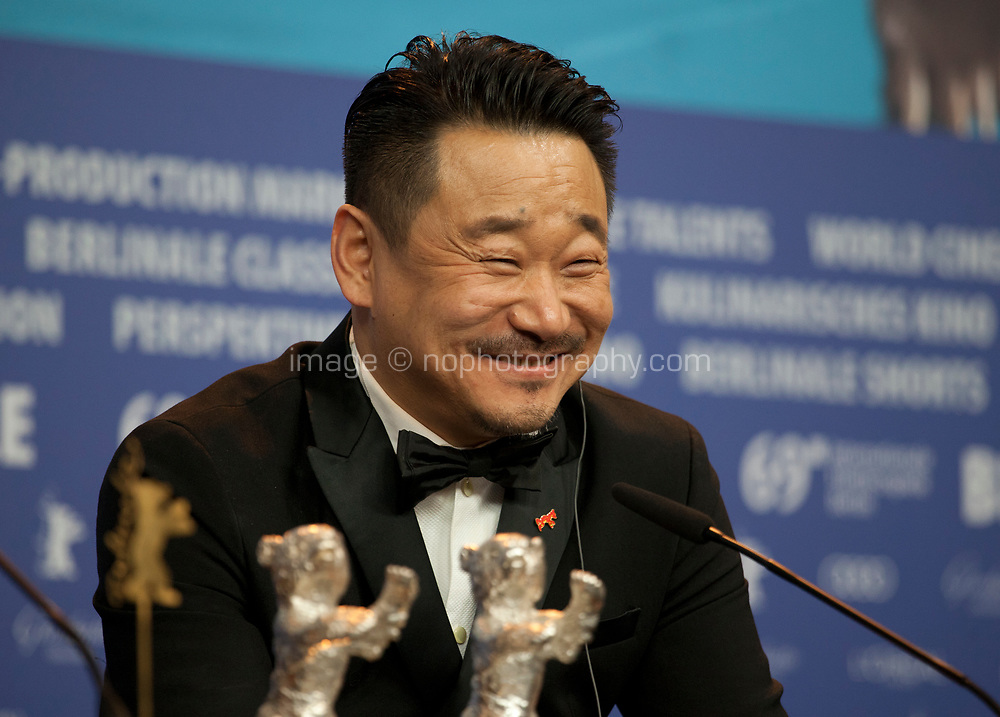 Wang Jingchun, winner of the Silver Bear for Best Actor,  for the film So long, My Son at the award winners press conference at the 69th Berlinale International Film Festival, on Saturday 16th February 2019, Hotel Grand Hyatt, Berlin, Germany.