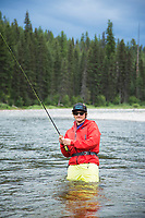 Fly fishing the South Fork of the Flathead River, Montana.