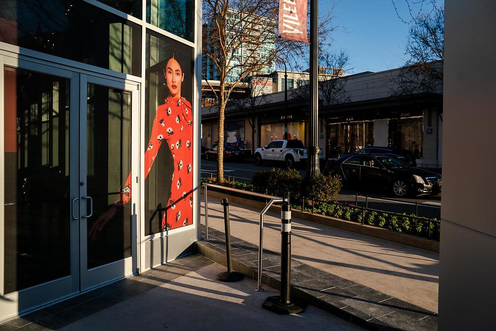 ATLANTA, GA - JANUARY 25: Businesses along Peachtree Road NE in the Buckhead district of Atlanta on Friday, Jan. 25, 2018. (Photo by Kevin D. Liles for The Washington Post)
