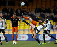 Chris Hussey of Sheffield Utd  competes with Billy Reeves of Port Vale during the English League One match at Vale Park Stadium, Port Vale. Picture date: April 14th 2017. Pic credit should read: Simon Bellis/Sportimage