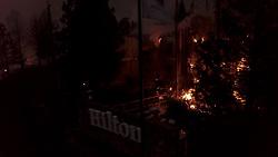 October 14, 2017 - Hilton Hotel burns in Santa Rosa, CA on the evening of  Oct. 9, 2017.  Photo by Paul KurodaZuma (Credit Image: © Paul Kuroda via ZUMA Wire)