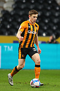 Greg Docherty during the EFL Sky Bet League 1 match between Hull City and Rochdale at the KCOM Stadium, Kingston upon Hull, England on 2 March 2021.