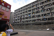WUHAN, CHINA - MAY 17: (CHINA OUT) <br /> <br /> Clothes and quilts dry on department at a college on May 17, 2016 in Wuhan, Hubei Province of China. <br /> ©Exclusivepix Media
