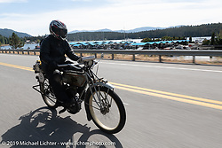 Dan Emerson on the Motorcycle Cannonball coast to coast vintage run. Stage 13 (254 miles) Kalispell, MT to Spokane, WA. Friday September 21, 2018. Photography ©2018 Michael Lichter.