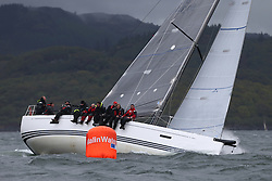 The Clyde Cruising Club's Scottish Series held on Loch Fyne by Tarbert. .Day 4 Racing with a wet Southerly to start clearing up for the last race...GBR8038R ,Roxstar ,Jonathan Anderson, CCC ,XP38i
