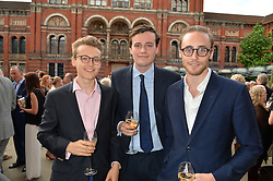 Left to right, brothers TOMMY COLERIDGE, FREDDIE COLERIDGE and ALEX COLERIDGE at the V&A Summer Party in association with Harrod's held at The V&A Museum, London on 22nd June 2016.
