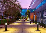 Dusk fall on the FAMU-FSU College of Engineering on Pottsdamer St in Tallahassee, Florida.
