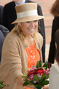 State Visit of the presidentof Chili , Michelle Bachelet to the Netherlands.<br /> <br /> On the photo Princes Maxima arrives at the Universaty in Wageningen.
