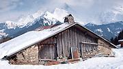 Traditional mountain hut in Savoie region