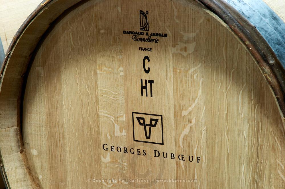 dargaud & jaegle stamp on barrel georges duboeuf beaujolais burgundy france