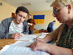 March 28, 2019 - Cherkasy, Ukraine - Ballot papers are being distributed among the polling stations of constituency N194  ahead of the 2019 presidential election scheduled for March 31, Cherkasy, central Ukraine, March 28, 2019. Ukrinform. (Credit Image: © Yulii Zozulia/Ukrinform via ZUMA Wire)