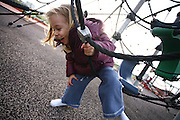 Young girl of three in a playground
