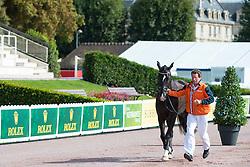 Nicole Den Dulk, (NED), Wallace, Chris Haazen - Horse Inspection Para Dressage - Alltech FEI World Equestrian Games™ 2014 - Normandy, France.<br /> © Hippo Foto Team - Jon Stroud<br /> 25/06/14