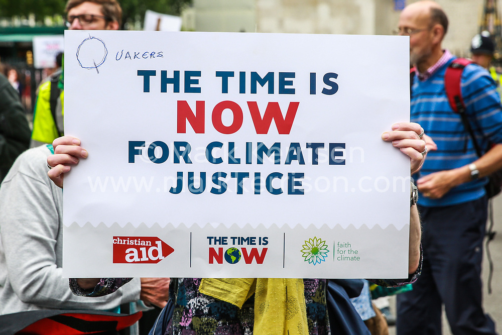 London, UK. 26 June, 2019. Climate change activists attend a mass lobby of Parliament for the climate and environment.