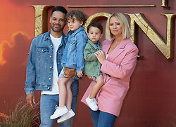 Kimberley Walsh and Justin Scott attend the London premiere of The Lion King.<br /><br />15 July 2019.<br /><br />Please byline: Vantagenews.com<br /><br />UK clients should be aware children's faces may need pixelating.
