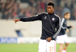 23.10.2012, Grand Stade Lille Metropole, Lille, OSC Lille vs FC Bayern Muenchen, im Bild David ALABA (FC Bayern Muenchen - 27) Freisteller beim Aufwärmen // during UEFA Championsleague Match between Lille OSC and FC Bayern Munich at the Grand Stade Lille Metropole, Lille, France on 2012/10/23. EXPA Pictures © 2012, PhotoCredit: EXPA/ Eibner/ Gerry Schmit..***** ATTENTION - OUT OF GER *****