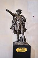 France, Bourgogne-Franche-Comté, Yonne (89), Sens, musée de Sens, statue de Christophe Colomb // France, Burgundy, Yonne, Sens, museum, Christophe Colomb statue