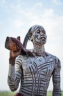 Karo Warrior, Koncho Village, Omo Valley, Ethiopia