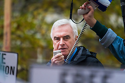 "London, November 4th 2015. Labour's Shadow Chancellor JOHN McDONNELL addresses thousands of students at their ""fight for free education,"" protest against student debt, austerity and demand ""an end to the scapegoating and deportation of international students."" // Licencing: Please contact: paul@pauldaveycreative.co.uk Mobile 07966 016 296 Home 020 8969 6875"