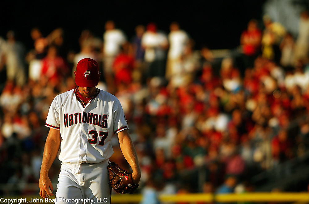 Stephen Strasburg made a brief appearance as part of his rehab before a standing room only crowd of approximately 7,000 spectators at Pfitzner Stadium, In Woodbridge, VA, on Friday, August 12, 2011. For The News & Messenger (Manassas, VA).