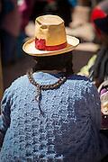 Quechua woman at Chinchero Town Sunday Market, Cusco Region, Peru, South America