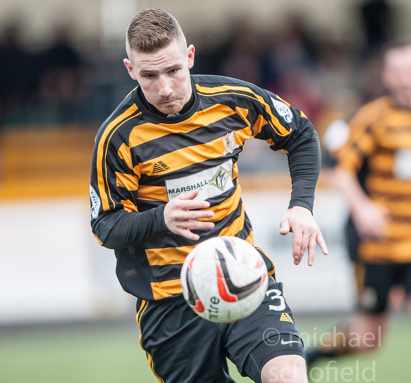 Alloa Athletic's Daryll Meggatt.<br /> Alloa Athletic 3 v 0 Falkirk, Scottish Championship game played today at Alloa Athletic's home ground, Recreation Park.<br /> © Michael Schofield.