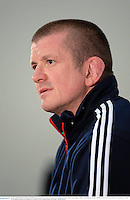 24 June 2013; British & Irish Lions assistant coach Graham Rowntree during a press conference ahead of their match against Melbourne Rebels on Tuesday. British & Irish Lions Tour 2013, Press Conference. AAMI Park, Olympic Boulevard, Melbourne, Australia. Picture credit: Stephen McCarthy / SPORTSFILE