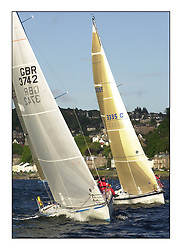 Yachting- The start of the Bell Lawrie Scottish series 2002 at Gourock racing overnight to Tarbert Loch Fyne where racing continues over the weekend.<br /><br />Hops - Davidson 36 GBR3742 and Elan 333 Salamander 3335C<br />Class 3<br /><br />Pics Marc Turner / PFM