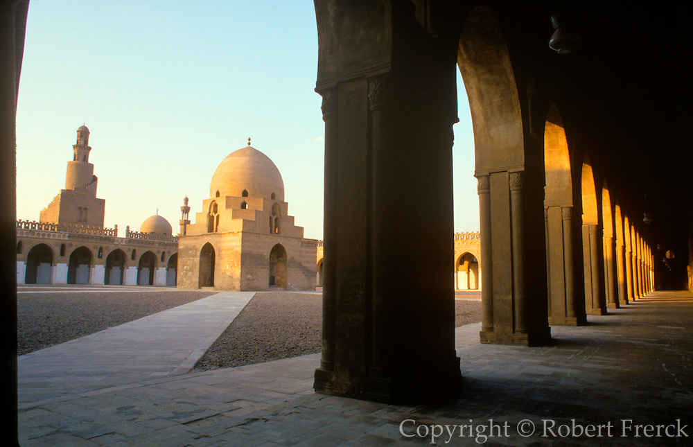 EGYPT, CAIRO the Mosque of Ibn Tulun; built in 876 AD with famous spiral minaret is one of the oldest and finest mosques in Cairo