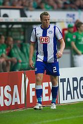 25.09.2011, Weser Stadion, Bremen, GER, 1.FBL, Werder Bremen vs Hertha BSC, im Bild.gelb rote Karte für Christian Lell (BSC #02) nach einem Foul an Andreas Wolf (Bremen #23).// during the Match GER, 1.FBL, Werder Bremen vs Hertha BSC on 2011/09/25,  Weser Stadion, Bremen, Germany..EXPA Pictures © 2011, PhotoCredit: EXPA/ nph/  Kokenge       ****** out of GER / CRO  / BEL ******