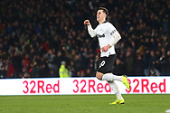 Derby County forward Tom Lawrence (10) scores a goal and celebrates 2-2 during the The FA Cup 3rd round match between Derby County and Southampton at the Pride Park, Derby, England on 5 January 2019.