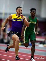 Harvard University<br /> Crimson Elite Indoor track & field meet<br /> men 60m qualifying