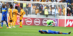 Cape Town-180915-  Cape Town City players disappointed after his team4-1 loss to Kaizer Chiefs  in the ABSA Premiership clash at the Cape Town Stadium.City lost the game 4-1,Khama Billiat scored a brace .Photographs:Phando Jikelo/African News Agency/ANA