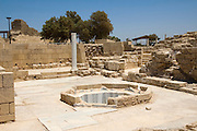 Israel, caesarea, a town built by Herod the Great about 25 - 13 BC, lies on the sea-coast of Israel. The bathhouse of the private wing of the Byzantine governor's palace