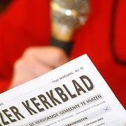 Folder Vooranker Huizen, voorlezen Huizer Kerkblad