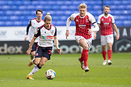Bolton Wanderers midfielder Lloyd Isgrove (23)during the EFL Sky Bet League 2 match between Bolton Wanderers and Cheltenham Town at the University of  Bolton Stadium, Bolton, England on 16 January 2021.