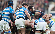 """Twickenham, United Kingdom. Courtlney LAWES diredting the """"Maul"""" during the Old Mutual Wealth Series Rest Match: England vs Argentina, at the RFU Stadium, Twickenham, England, <br /> <br /> Saturday  26/11/2016<br /> <br /> [Mandatory Credit; Peter Spurrier/Intersport-images]"""