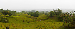 Scenic view of rolling hills, Chilamate, Costa Rica