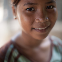 Portrait of a young woman in a rural area of Takéo province, Cambodia
