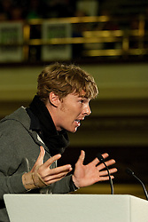 © under license to London News Pictures. 19/10/2010. Sherlock Holmes actor, Benedict Cumberbatch, represents actor's union Equity, at the All Together for Public Services Rally against government cuts in Central London.