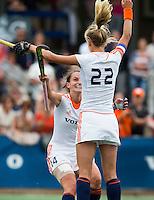 BREDA - Kiki van Wijk en Lauren Stam vieren  een goal tijdens de finale van het Volvo Invitatie Toernooi U21 tussen de vrouwen van Nederland (Jong Oranje)  en China (5-1) . COPYRIGHT KOEN SUYK