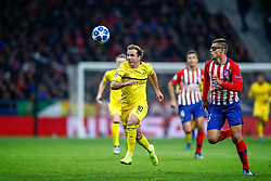 November 6, 2018 - Madrid, MADRID, SPAIN - Mario Gotze of Borussia and Francisco Montero of Atletico de Madrid during the UEFA Champions League football match between Atletico de Madrid and Borussia Dormund on November 06th, 2018 at Estadio Wanda Metropolitano in Madrid, Spain. (Credit Image: © AFP7 via ZUMA Wire)