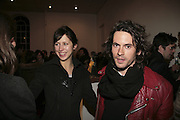 Sophie Hunter and Nick Hackworth, TWO LEGS BAD, FOUR LEGS GOOD, Jake & Dinos Chapman. PARADISE ROW, 17 Hereford Street. London E2 . 9 February 2007.  -DO NOT ARCHIVE-© Copyright Photograph by Dafydd Jones. 248 Clapham Rd. London SW9 0PZ. Tel 0207 820 0771. www.dafjones.com.
