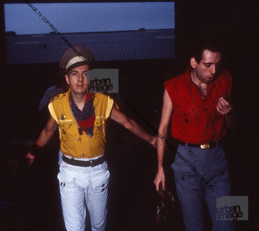 Joe Strummer The Clash backstage at the Manchester Apollo - 1980