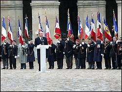 September 21, 2016 - Paris, IDF, France - DISCOURS DE JACQUES CHIRAC - HOMMAGE SOLENNEL A LUCIE AUBRAC, AUX INVALIDES. (Credit Image: © Visual via ZUMA Press)