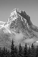 Setting Moon, Spring Snow, Windtower, Bow Valley, Alberta
