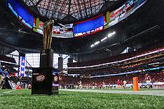 College Football Playoff Trophy Inside Mercedes-Benz Stadium